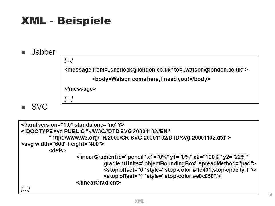 XML - Beispiele Jabber SVG […]